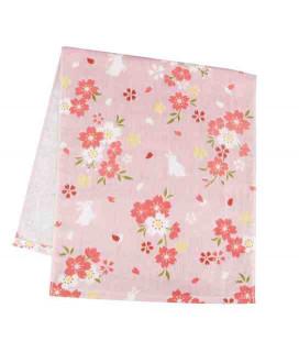 Japanese towel tenugui Kurochiku (Kyoto)- Model Hanamiusagi