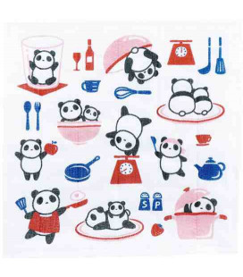Dishcloth Kurochiku (Kyoto)- Modell: Kitchen panda