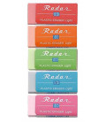Seed Radar Light 100 - pack of 5 erasers (imported from Japan)