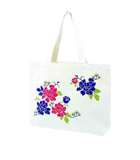Japanese Kurochiku bag - Botan model - 100% cotton