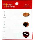 """Japanese sticky notes (post-it) """"Nihongo flashcards"""" - Wagashi (Japanese sweets)"""