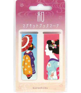 Magnetic bookmarker Kurochiku (Kyoto) - Maiko model