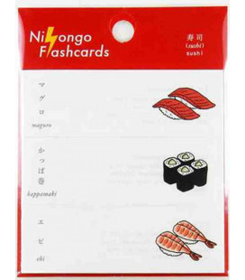 "Notas Adhesivas japonesas (post-it) ""Nihongo flashcards"" - Sushi"