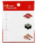 """Japanese sticky notes (post-it) """"Nihongo flashcards"""" - Sushi"""