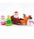 Iwako Puzzle Eraser - Christmas - (Erasers with different designs) Made in Japan