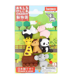 Iwako Puzzle Eraser - Zoo - (Erasers with different designs) Made in Japan