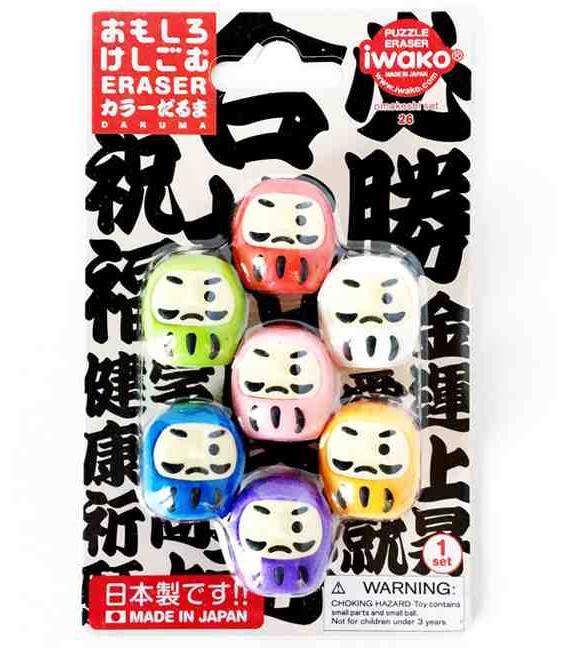 Iwako Puzzle Eraser - Daruma - (Erasers with different designs) Made in Japan