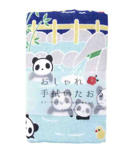 Japanese towel tenugui Kurochiku (Kyoto)- Model Panda