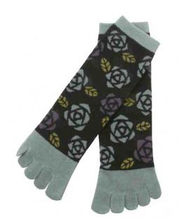 Five fingers socks for women – Kurochiku (Kyoto) – Bara Model – (one size 23-25cm)