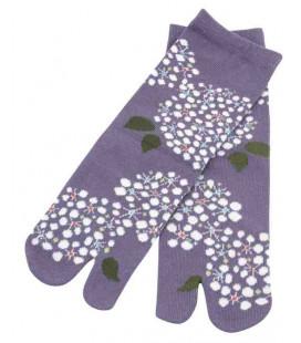 """Flip flop socks for women """"Tabi"""" – Kurochiku (Kyoto) – Kodemari Model – one size 23-25 cm"""