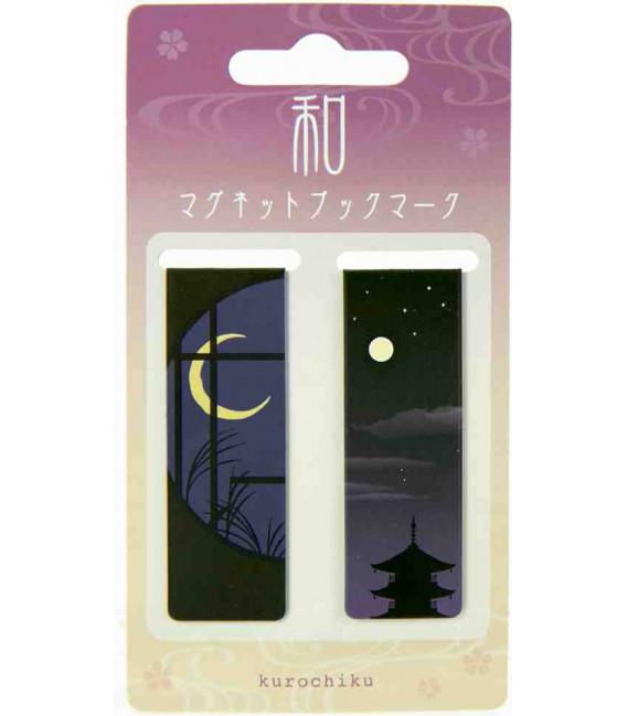 Magnetic bookmarkers Kurochiku (Kyoto)- Night model