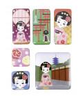 Kurochiku - 6 Pieces Japanese Print Magnet - Dangochan