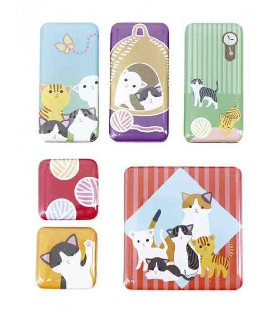 Kurochiku - 6 Pieces Japanese Print Magnet - Oyakoneko