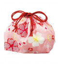 Hakoya Sakura Bento Bag - Model 33676-4 (Pink cherry blossom)