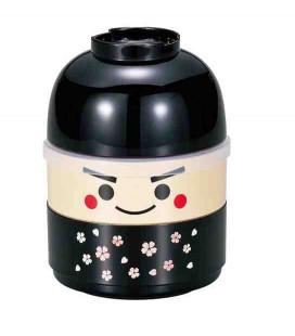 Hakoya Kokeshi Bento - Size M - Model 50616-7 (Ichiro) - Color black