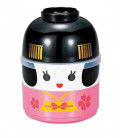 Hakoya Kokeshi Bento - Size M - Model 50642-6 Maiko - (Pink color)