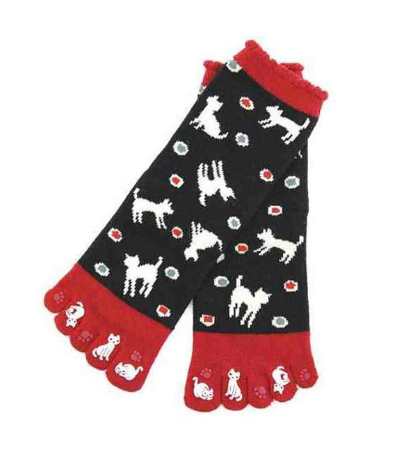 Five fingers socks for women – Kurochiku (Kyoto) – Mizutama Model – (one size 23-25cm)