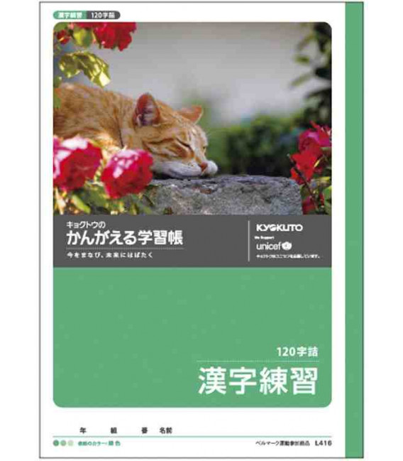 Exercise notebook for practicing Kanji - 120 kanji per page