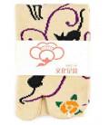 "Flip flop socks for women ""Tabi"" – Kurochiku (Kyoto) – Kuroneko Momo model – one size 23-25 cm"