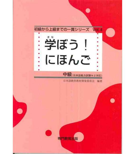 Manabou! Nihongo chukyu tekisuto (Nihongo Noryoku Shiken N2/ Nihongo NAT-TEST 2-)