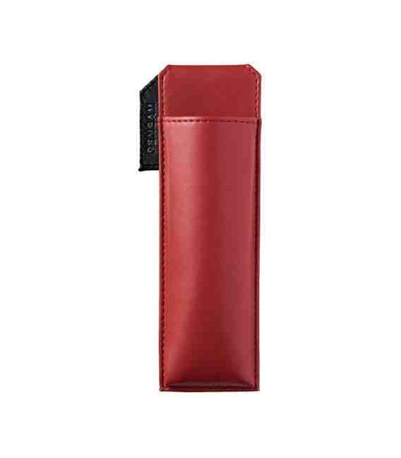 Leather Made Japanese Magnetic Pen Case - Pensam 2001 Model (Red) - Red Color