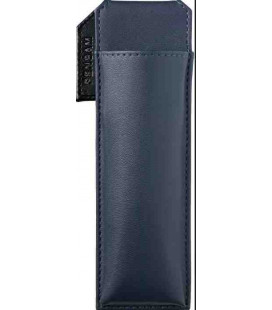 Leather Made Japanese Magnetic Pen Case - Pensam 2001 Model (Blue) - Blue Color