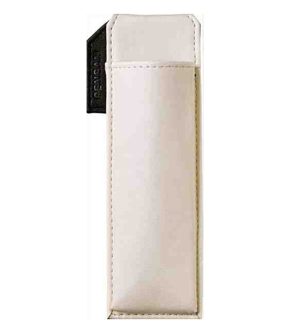Leather Made Japanese Magnetic Pen Case - Pensam 2001 Model (White) - White Color