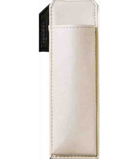 Leather Made Japanese Magnetic Pen Case - Pensam 2001 Model (White) - White Color