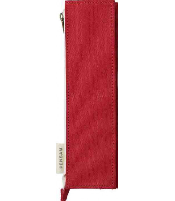 Japanese Magnetic Pen Case - Pensam Model 2002 (Red) - Red Color