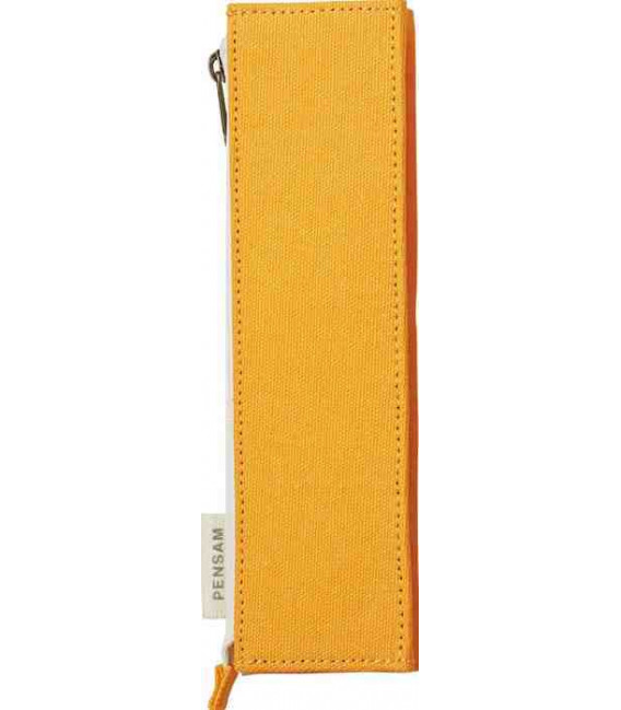Japanese Magnetic Pen Case - Pensam Model 2002 (Yellow) - Yellow Color