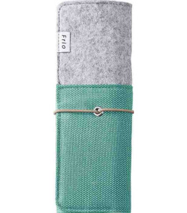 Japanese Stand-Roll Pen Case - Frio Model 8401 (Green) - Green and Grey color