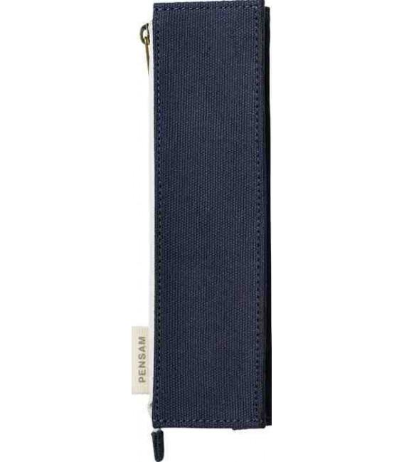 Japanese Magnetic Pen Case - Pensam Model 2002 (Blue) - Dark Blue Color