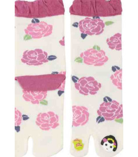 "Flip flop socks for women ""Tabi"" - Kurochiku (Kyoto)- Maiko Model (One Size 23-25 cm)"