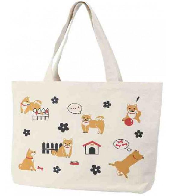 Japanese bag Kurochiku - Dogs model - 100% cotton