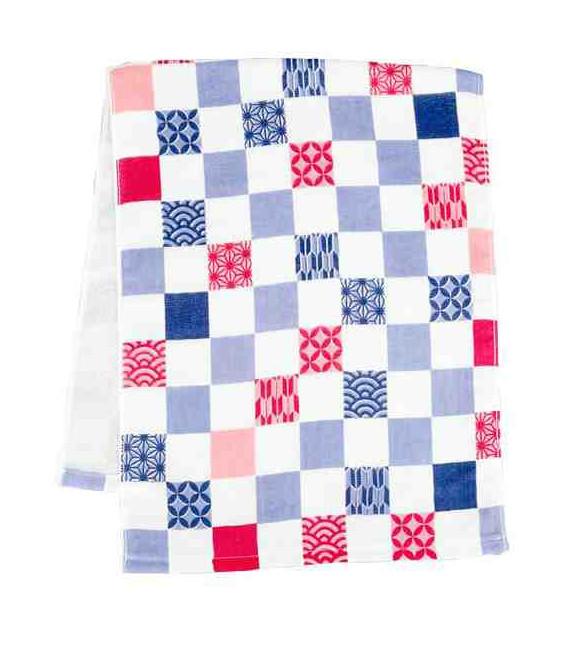 Japanese towel tenugui Kurochiku (Kyoto)- Model: Idori ichimatsu