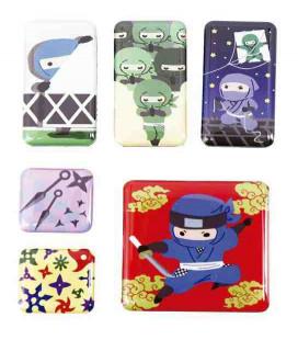 Kurochiku - 6 Imanes con motivos japoneses - Ninja
