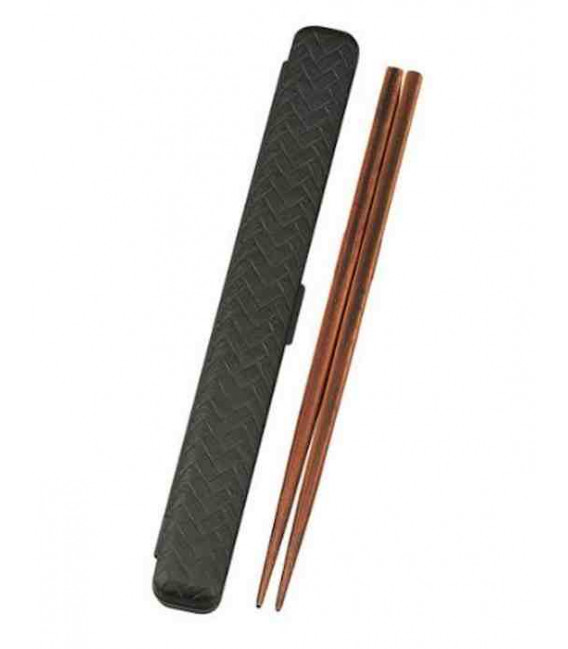 Chopsticks and case - 33052 Model - Set Kuro (black)