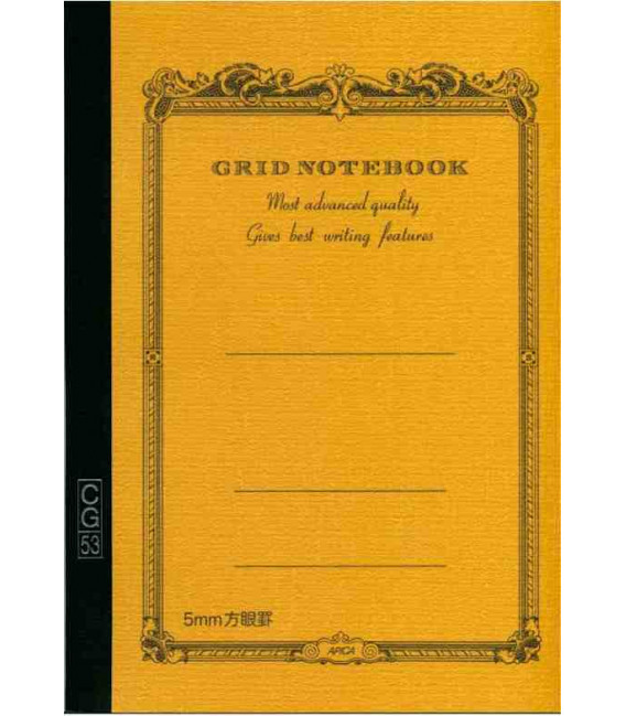 Apica CG53-BY Notebook (A5 size - Yellow color -Squared - 52 pages)