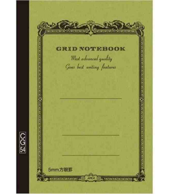 Apica CG54 - Notebook (B6 size - Khaki green color- Squared - 104 pages)