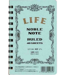 Life Noble Note - N72 (127x80mm Size - Light blue - Ruled - 40 Sheets)
