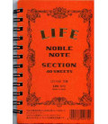 Life Noble Note - N70 (127x80mm Size - Orange - Squared - 40 Sheets)