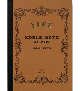 Life Noble Memo - N29 (B6 size - Brown - Plain paper - 100 sheets)