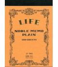 Life Noble Memo - N41 (B7 Size - Brown - Plain paper - 100 Sheets)