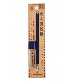 Japanese mechanical pencil (wood made case) Kitaboshi - Indigo model