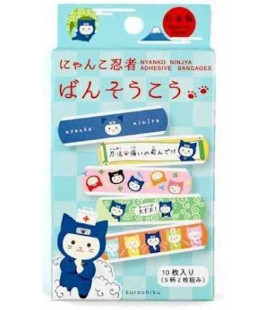 Kurochiku adhesive bandages - Made in Japan - Myanko Ninja