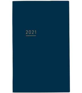 Jibun Techo Kokuyo - Weekly Planner 2021 - Lite Mini Diary - B6 Slim - Blue Navy