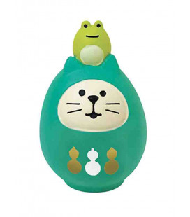 Decole - Green Cat Daruma - Concombre Fuku Mono - Model ZCB-43946