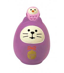 Decole - Purple Cat Daruma - Concombre Fuku Mono - Model ZCB-43947