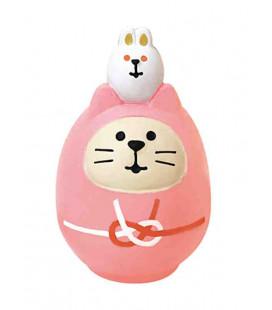 Decole - Pink Cat Daruma - Concombre Fuku Mono - Model ZCB-43949
