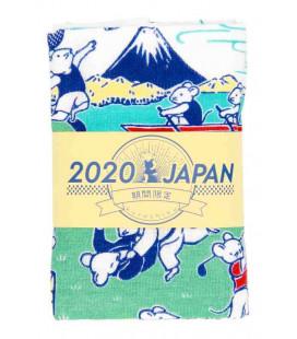 Japanese towel tenugui Kurochiku (Kyoto)- Model Sports nezumi